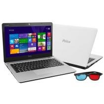 Notebook Philco 14I-B744W8 AMD® Brazos Dual Core - 4GB 500GB Windows 8 LED 14 HDMI