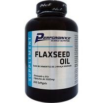 Óleo de Sementes de Linhaça Dourada FlaxSeed Oil - 200 Softgels - Performance Nutrition