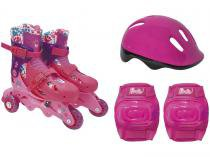 Patins Barbie Rosa 7785-5 - Fun