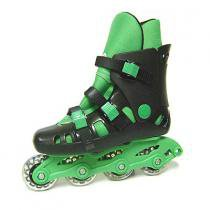 Patins In Line New Basic Verde - By Kids - 33 a 36 - Outras Marcas