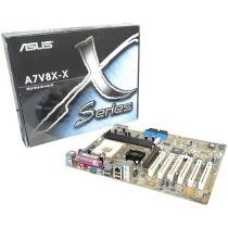 Placa Mãe Asus Socket A7V8X-X p/ AMD Barton - Thoroughbred/ Athlon XP/ Athlon/ Duron 2.25