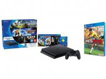 Playstation 4 500GB Sony Playstation Hits Bundle 1 - Controle 3 Jogos 1 Voucher PS Plus + PES 2018 PS4