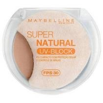 Pó Facial Compacto Super Natural UV-Block - Cor 01 - Claro - Maybelline