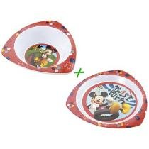 Prato Disney Mickey + Prato Raso Triangular Mickey - Multikids Baby