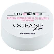 Removedor de Esmalte Clean My Nails to Go - 25 Unidades Océane