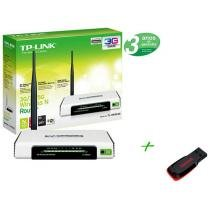 Roteador Wireless 150 Mbps com Botão QSS - + Pen Drive 4GB + 2 GB de Backup On Line