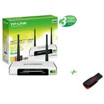 Roteador Wireless 300 Mbps 2 Antenas de 3dBi - + Pen Drive 4GB + 2 GB de Backup On Line