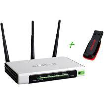 Roteador Wireless TP-Link TL WR941ND 300Mbps - 5 Portas + Pen Drive 4GB + 2 GB de Backup On Line