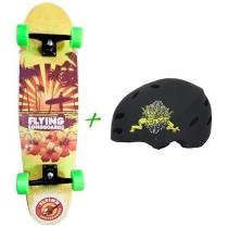 Skate Semi Long Montado Sunset - Flying + Capacete Solo