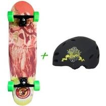 Skate Semi Long Montado - Sunset Hawaii Girl - Flying + Capacete Solo