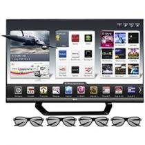 "Smart TV 3D LED 42"" LG Full HD 1080p 42LM6400 - DTV Conversor 2D 120Hz 4 HDMI 3 USB Wi-fi 4 Óculos"