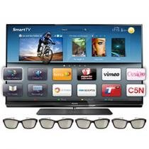 "Smart TV 3D LED 47"" Philips 47PFL7007G Full HD - Conversor Integrado 4 HDMI 3 USB Wi-Fi 4 Óculos"