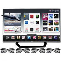 "Smart TV 3D LED 55"" LG 55LM6400 Full HD 1080p - Conversor Integrado 4 HDMI 3 USB Wi-fi 4 Óculos 3D"