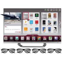 "Smart TV 3D LED 55"" LG 55LM6700 Full HD 1080p - Conversor Integrado 4 HDMI 3 USB Wi-fi 4 Óculos 3D"