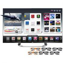 "Smart TV 3D LED 55"" LG Cinema 3D 55LM7600 Full HD - Conversor Integrado 4 HDMI 3 USB DLNA 6 Óculos"
