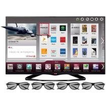 "Smart TV 3D LED 55"" LG LA6600 Full HD 1080p - Conversor Integrado 3 HDMI 3 USB 4 Óculos 480Hz"