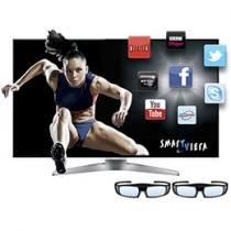 "Smart TV 3D LED 55"" Panasonic L55WT50B Full HD - Conversor Integrado 4 HDMI 3 USB 240Hz"