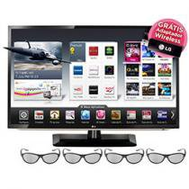 "Smart TV 3D LED 65"" LG 65LM6200 Full HD 1080p - Conversor Integrado 4 HDMI 3 USB DLNA 4 Óculos 3D"