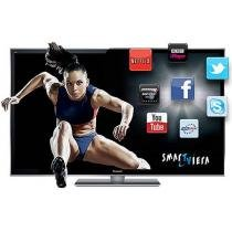 "Smart TV 3D Plasma 65"" Panasonic P65VT50B Full HD - Conversor Integrado 4 HDMI 3 USB 600Hz"