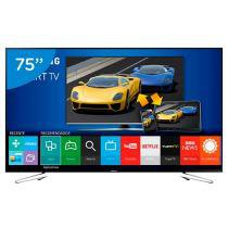 Smart TV Gamer LED 75 Samsung UN75J6300A - Full HD Conversor Integrado 4 HDMI 3 USB Wi-Fi