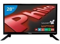 Smart TV LED 28 Philco PH28N91DSGWA - Conversor Digital Wi-Fi 2 HDMI 2 USB
