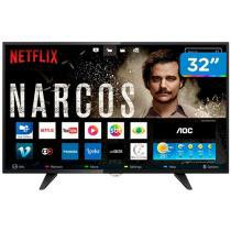 Smart TV LED 32 AOC LE32S5970 - Conversor Digital Wi-Fi 3 HDMI 2 USB