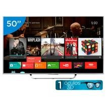 Smart TV LED 3D 50 Sony KDL-50W805C Full HD - Conversor Integrado Android 4 HDMI 2 USB Wi-fi