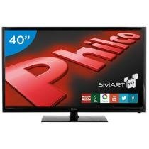 Smart TV LED 40 Philco Full HD PH40R86DSGW - Conversor Digital Wi-Fi 2 HDMI 1 USB