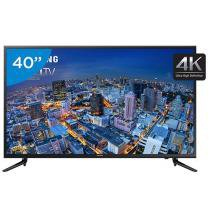 Smart TV LED 40 Samsung 4K/Ultra HD Gamer - UN40JU6000 Conversor Digital Wi-Fi 3 HDMI 2 USB