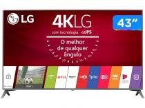 Smart TV LED 43 LG 4K/Ultra HD 43UJ6565 webOS - Conversor Digital 2 USB 4 HDMI