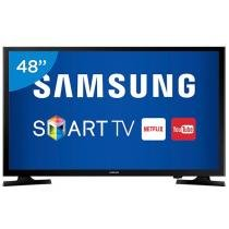 Smart TV LED 48 Samsung Full HD UN48J5200 - Conversor Digital Wi-Fi 2 HDMI 1 USB
