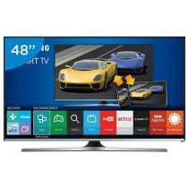 Smart TV LED 48 Samsung UN48J5500AGXZD Full HD - Conversor Integrado 3 HDMI 2 USB Wi-Fi