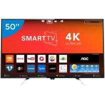 Smart TV LED 50 AOC 4K/Ultra HD LE50U7970 - Conversor Digital Wi-Fi 4 HDMI 2 USB