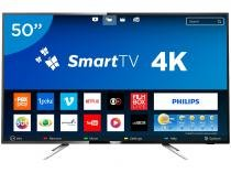 Smart TV LED 50 Philips 4K/Ultra HD 50PUG6102/78 - Conversor Digital Wi-Fi 4 HDMI 2 USB DTVi