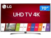 Smart TV LED 70 LG 4K/Ultra HD 70UJ6585 WebOS - Conversor Digital Wi-Fi 4 HDMI 2 USB Bluetooth HDR