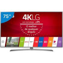 Smart TV LED 75 LG 4K/Ultra HD 75UJ6585 WebOs - Conversor Digital 2 USB 4 HDMI