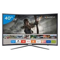 Smart TV LED Curva 40 Samsung Full HD 40K6500 - Conversor Digital 3 HDMI 2 USB Wi-Fi