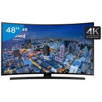 Smart TV LED Curva 48 Samsung 4k/Ultra HD Gamer - UN48JU6700 Wi-Fi 4 HDMI 3 USB