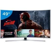 Smart TV LED Curva 49 Samsung 4K/Ultra HD - KU6500 Conversor Digital Wi-Fi 3 HDMI 2 USB