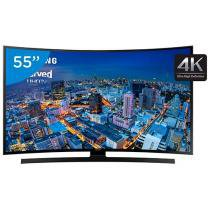 Smart TV LED Curva 4K Ultra HD 55 Samsung - UN55JU6700 4 HDMI 3 USB Wi-Fi