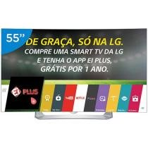Smart TV OLED Curva 55 LG Full HD 3D 55EG9100 - Conversor Digital 3 HDMI 3 USB Wi-Fi 4 Óculos