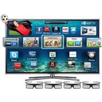 "Smart TV Slim LED 3D 55"" Samsung UN55ES6800 - Full HD DTV Dual Core 3 HDMI 3 USB Wi-fi 4 Óculos"