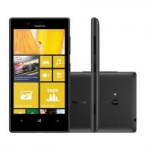 "Smartphone 3G Nokia Lumia 720 Windows Phone 8 - Câmera 6.7MP Frontal HD 1.3MP Tela 4,3"" Wi-Fi GPS"