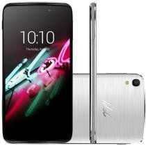 "Smartphone Alcatel Idol 3 16GB Prata Dual Chip 4G - Câm. 13MP + Selfie 5MP Tela 4.7"" Proc. Quad Core"