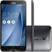"Smartphone Asus ZenFone 2 16GB Dual Chip 4G - C��m. 13MP + Selfie 5MP Tela 5.5"" Intel Quad Core"