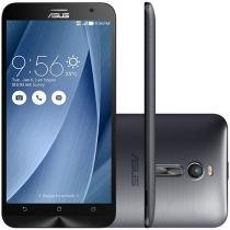 "Smartphone Asus ZenFone 2 16GB Prata Dual Chip 4G - Câm. 13MP + Selfie 5MP Tela 5.5"" Full HD Quad Core"