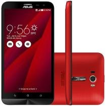 "Smartphone Asus ZenFone 2 Laser 16GB Vermelho - Dual Chip 4G Câm 13MP + Selfie 5MP Tela 6"" Full HD"