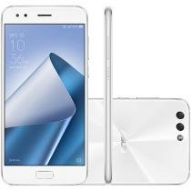 "Smartphone Asus Zenfone 4 64GB Branco Dual Chip - 4G Câm. 12MP e 8MP + Selfie 8MP Tela 5,5"" Full HD"