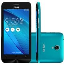 "Smartphone Asus ZenFone Go 16GB Azul Dual Chip 3G - Câm. 8MP Tela 5"" HD Proc. Quad Core Android 5.0"