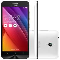 "Smartphone Asus ZenFone Go 16GB Branco Dual Chip - 3G Câm. 8MP Tela 5"" HD Proc. Quad Core Android 5.0"
